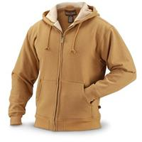 Sherpa-lined Full-zip Sweatshirt, Brown