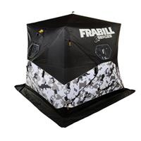 Frabill Bro Hub Ice Shelter, Insulated, 2-3 Person, Snow Camo