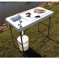 Guide Gear Folding Fish / Game Cleaning Table with Sink-Faucet