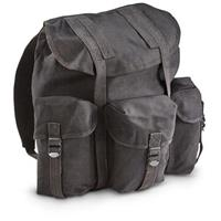 Military-style Heavy-duty Canvas ALICE Pack, Black