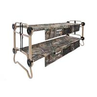 Large Cam-O-Bunk Portable Bunk Bed with Organizers, Realtree Xtra