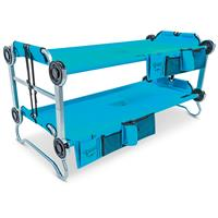 Disc-O-Bed Youth Kid-O-Bunk Portable Bunk Bed with Organizers, Teal Blue
