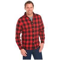 Woolrich Men's Cedar Springs Plaid Long Sleeve Shirt, Old Red