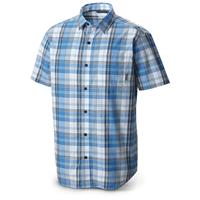 Columbia Men's Sportswear Thompson Hill II Short-sleeved Shirt, Pacific Blue Plaid