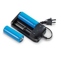 Lithium-ion 26650 Rechargeable Batteries and Charger Kit