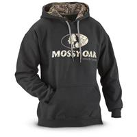 Mossy Oak Break-Up Country Camo Lined Hoodie, Black