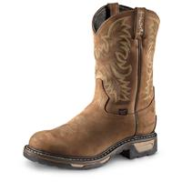 Tony Lama Men's 3R Cowboy Work Boots, Waterproof, Tan Cheyenne, Brown