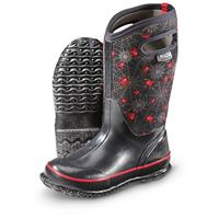 Bogs Kid's Creepy Crawler Rubber Boots, Black Multicolor