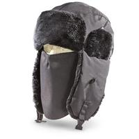 Igloos 200 gram Thinsulate Insulation Trapper Hat with Face Mask, Black