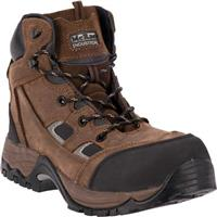 McRae Puncture Proof Composite Toe Work Boots, Brown Crazyhorse