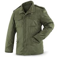 New Spanish Military Surplus M65 Jacket, Button-in Liner, Olive Drab