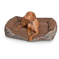 Cuddler Rectangle Dog Bed, Mossy Oak Camo