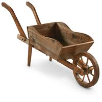CASTLECREEK Wooden Cart Planter