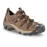 KEEN Men's Utility Atlanta Cool Work Shoes, Brown