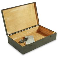 New Italian Military Issue Wooden Storage Box