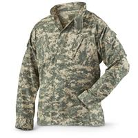 Military Style Digital Camo Combat Uniform Shirt, New