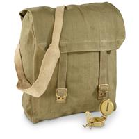 British Military Surplus M37 Canvas Pack, Used, Olive Drab