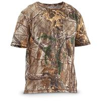 Guide Gear Men's Short Sleeve Camo T-Shirt, Realtree