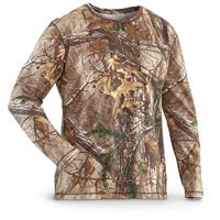 Guide Gear Men's Heavyweight Cotton Camo T-shirt, Long-sleeved, Realtree