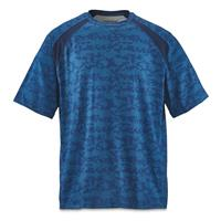 Guide Gear Men's Performance Fishing Short Sleeve T-Shirt, Blue Hex