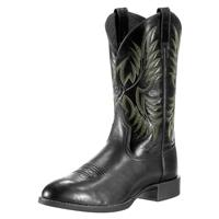 "Ariat 11"" Heritage Stockman Cowboy Boots, Black"