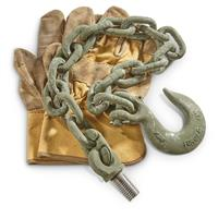 U.S. Military Surplus Chain and Hook Assembly, New
