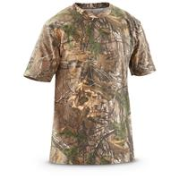 Browning Men's Short Sleeved T Shirt, Realtree Xtra/Blaze