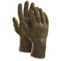 Czech Military Surplus Wool Gloves, 5 Pairs, New