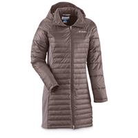 Columbia Women's Powder Pillow Long Jacket, Mineshaft