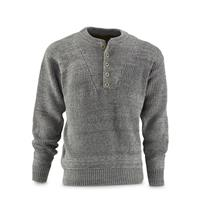 Marino Bay Men's Fatigue Pullover Sweater, Charcoal