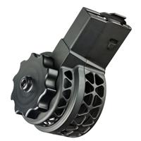 X-products X-25-S AR-10 Skeletonized Drum Magazine, .308 Winchester, 50 round