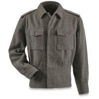 Finnish Military Surplus Wool Field Jacket, Like New