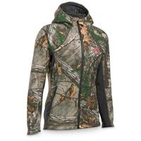 Under Armour Women's ColdGear Stealth Full Zip Hoodie, Anthracite / Realtree