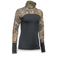 Under Armour Women's Coldgear Infrared Scent Control Tevo Base Layer Top, Anthracite / Realtree