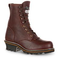 Georgia Men's Logger Boots, Brown