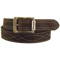 Wrangler Rugged Wear Men's Decorative Leather Belt, Tan