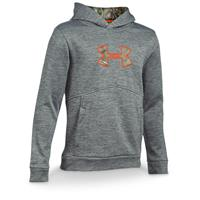 Under Armour Boys' Caliber Hoodie, Graphite / Realtree Xtra