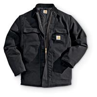 Carhartt Men's Duck Traditional Work Jacket, Insulated, Black