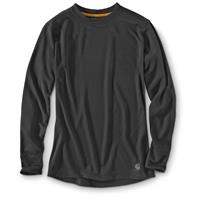 Carhartt Men's Base Force Cold Weather Crewneck Thermal Shirt, Black