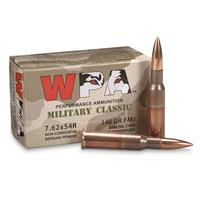 Wolf, 7.62x54R, 148 Grain, FMJ Ammo, 500 Rounds