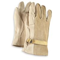 US Military Surplus D3 Suede Leather Gloves, New