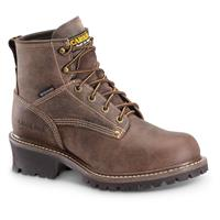 "Carolina Men's 6"" Logger Boots, Waterproof, Brown"