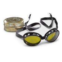 Swiss Military Surplus Mountain Goggles, WW2 Era, Used