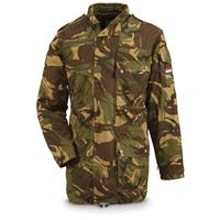 Dutch Military Surplus Camo Parka with 2 Liners, Used
