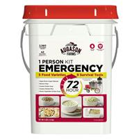 Augason Farms Emergency Food Storage Kit with Survival Gear, 1 Person, 72-Hour