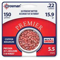Crosman Magnum Premier Domed Pellets, 200 Count