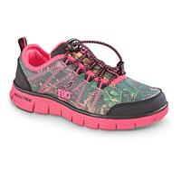 Realtree Kids Ms. Eagle Athletic Shoes with Free Lunchbox, Hot Pink / Realtree Xtra Green