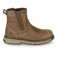 Cat Footwear Men's Pelton Work Boots, Dark Beige