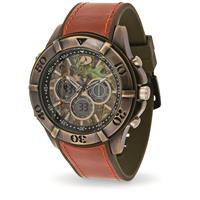 Mossy Oak Men's All-Terrain Field Watch, Antique Gold Case