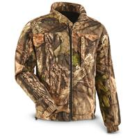Guide Gear Men's Whist Full Zip Hunting Jacket with W3 Fleece, Mossy Oak Break-Up Country